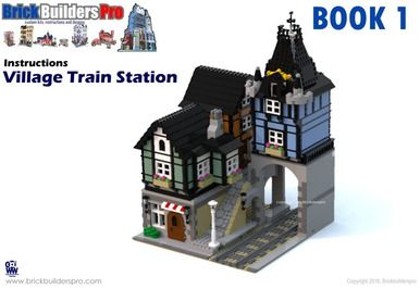 Village Train Station PDF Lego Instructions | lego | Lego