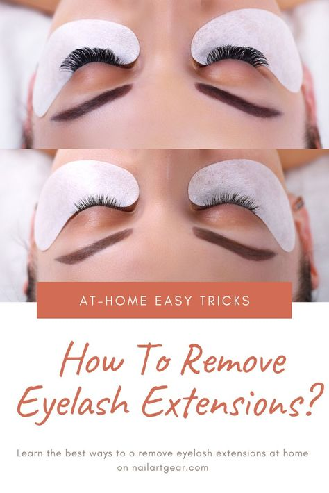 How to Remove Eyelash Extensions with Vaseline, Coconut ...