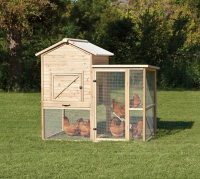 Find Precision Unstained Natural Wood Rustic Barn Chicken Coop 40122d In The Chicken Coops Pens Category At Trac Pet Chickens Coops Rustic Barn Chicken Coop