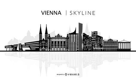 Vienna Skyline Silhouette Skyline Silhouette Landscape Silhouette City Silhouette