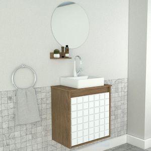 Buscando Gabinete Para Banheiro Com Espelho 52 7x50x30cm Ebano E Branco Carol Darabas Agardi C Gabinete Banheiro Espelho Banheiro Decoracao Banheiro