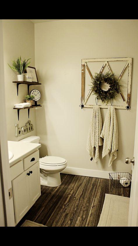 45 Rustic Farmhouse Touch Bathroom Remodel On a Budget . - 45 Rustic Farmhouse Touch Bathroom Remodel On a Budget - Girly, Country Farmhouse Decor, Modern Farmhouse, Farmhouse Style, Farmhouse Remodel, Cottage Farmhouse, Décor Boho, Country Style Homes, Small Bathroom