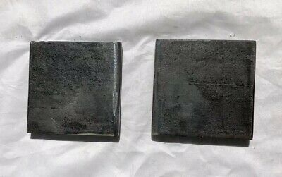 Lot Of 2 Steel Flat Bar Plate Spacer Or Shims 4 X 4 And 1 2 Thick Ebay Steel Zinc Plating Raw Steel