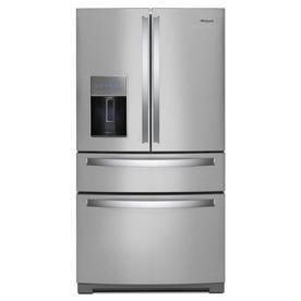 Whirlpool 26 2 Cu Ft 4 Door French Door Refrigerator With Ice