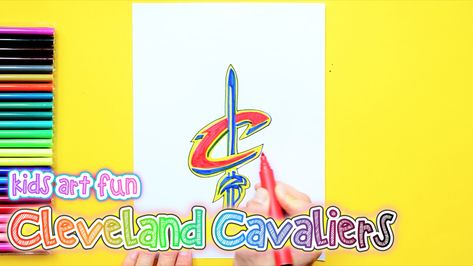 How To Draw And Color The Cleveland Cavaliers Logo Nba Team Series