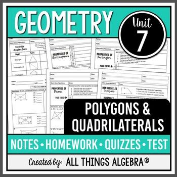 Polygons and Quadrilaterals (Geometry Curriculum - Unit 7