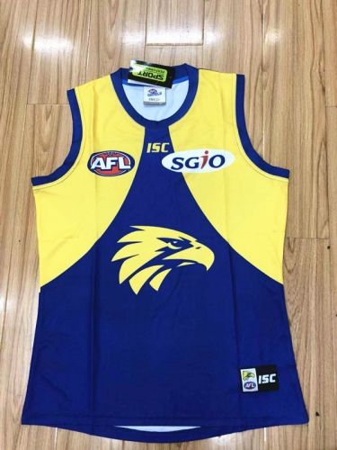 2018 19 Seattle Seahawks Blue Yellow Thailand Rugby Vest Rugby Shirt Athletic Tank Tops Rugby Jersey