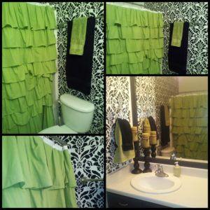Lime Green Ruffle Shower Curtain