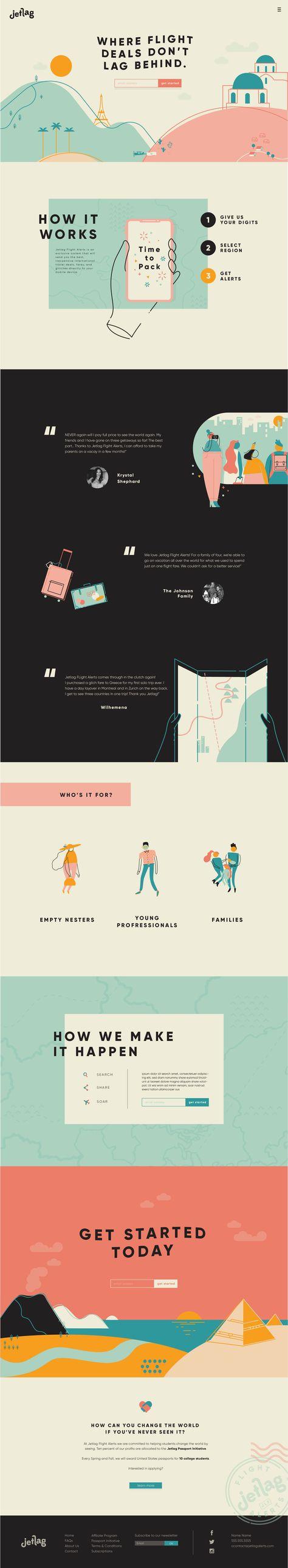 Carly Berry illustrator graphic designer - jetlag brand identity