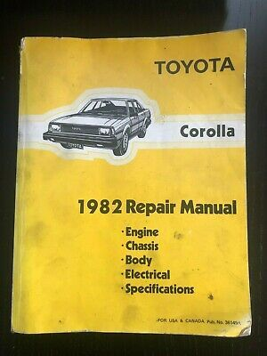 Advertisement Ebay 1982 Toyota Corolla Service Repair Manual Oem