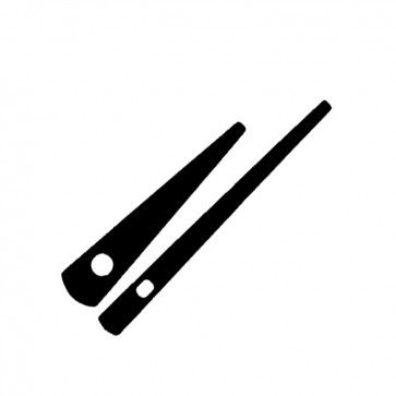 2 1//2 Black Spade Hands by Klockit