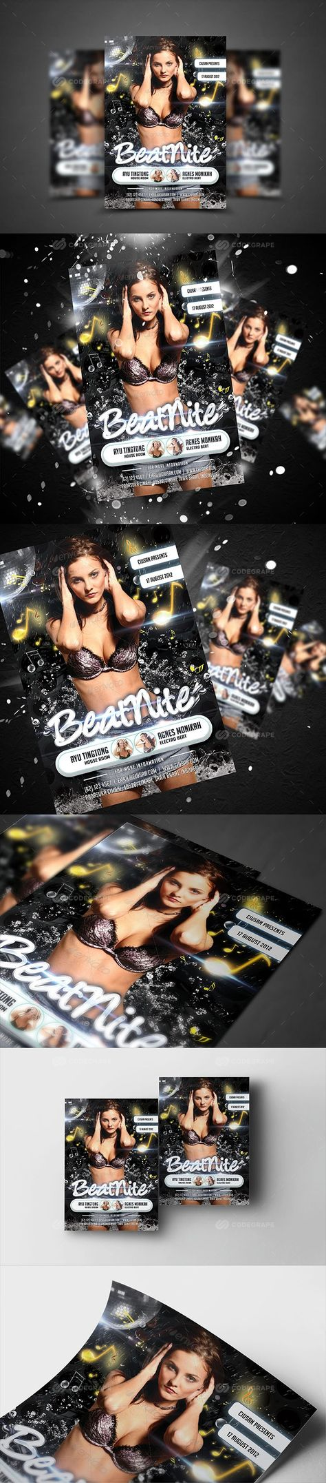 Beat Night Flyer Template