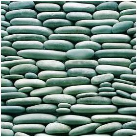 "Standing Black Pebble Tile 6/""x12/"""