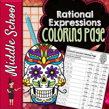 Simplifying Rational Expressions Color By Number Math Color By