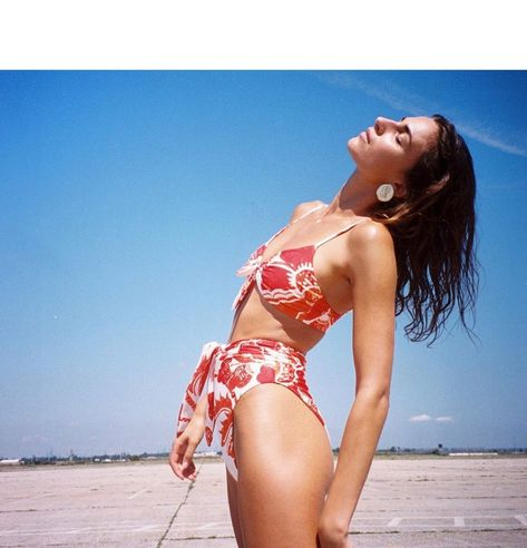 Our editors are swooning over this Mara Hoffman bikini. Adding to cart NOW!