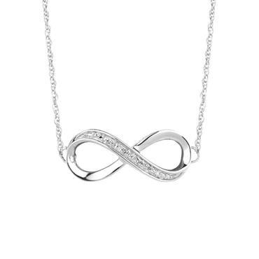 Infinity Diamond Sterling Silver Chain Bracelet - Item 19401769 | REEDS Jewelers