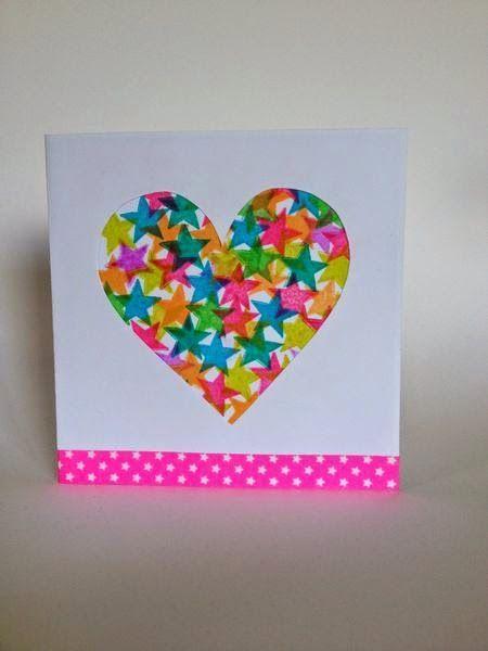 Diy Carte Tamponnee En Forme De Coeur A Faire Avec Les Enfants