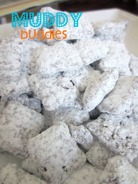 Muddy Buddies = one of Cru's favorites!