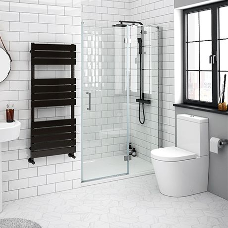 Apollo 1000mm Frameless Hinged Shower Door Victorian Plumbing Uk Shower Enclosure Shower Doors Rectangular Shower Enclosures