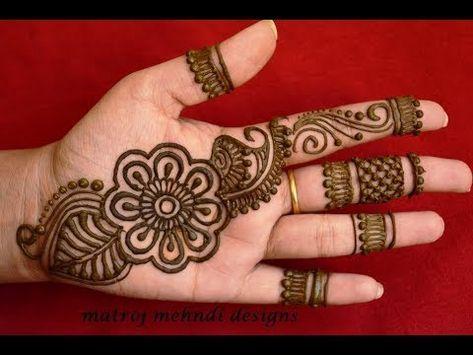 Latest Arabic Henna Designs For Hands *Simple Arabic Henna
