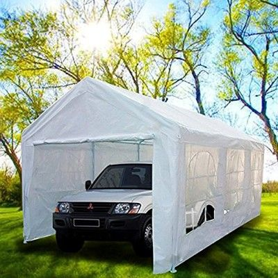 Peaktop 20 X10 Heavy Duty Portable Carport Garage Car Shelter Canopy Party Tent Portable Carport Portable Garage Car Shelter