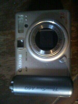 Canon Powershot A60 2 0mp Digital Camera Silver Digital Camera Digital Camera Lens Powershot