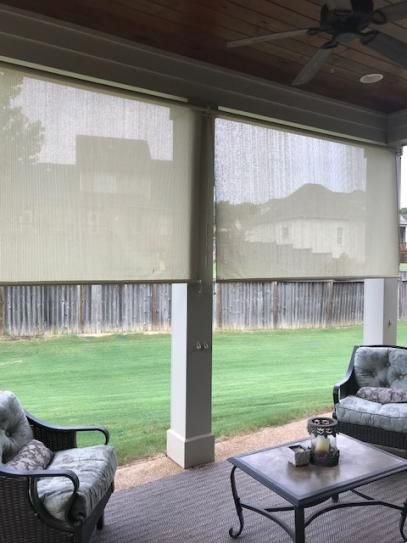 Coolaroo Sesame Cordless Light Filtering Motorized Fabric Exterior Roller Shade 72 In W In 2020 Outdoor Curtains For Patio Exterior Roller Shade Outdoor Patio Shades
