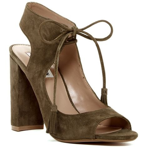 6fce50f8ff20 Steve Madden Charlea Block Heel Sandal ( 80) ❤ liked on Polyvore featuring  shoes
