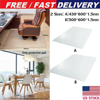 Us Computer Desk Chair Mat Pvc Protector For Hardwood Floor Carpet Home Office In 2020 Computer Desk Chair Desk Chair Mat Chair Mats