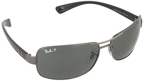 e5541eaf8f9dd Ray Ban Mens RB3379 00458 GunmetalGreen Polarized 64mm Sunglasses      Continue to the product at the image link.