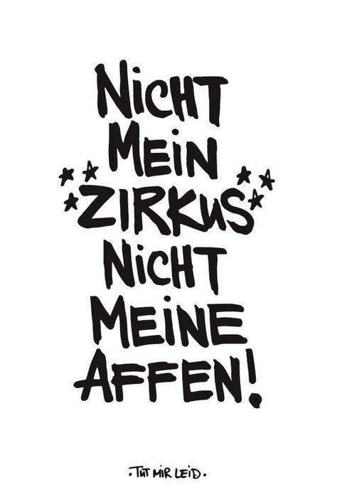 """Magnet Kühlschrankmagnet Spruch """"NICHT MEIN ZIRKUS - NICHT MEINE AFFEN"""" not my circus not my apes"""