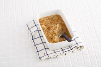あめ色たまねぎのスープストックを作っておけば、色々なスープのベースにしたり、バゲットとチーズを乗せてグラタンスープも作れちゃいます。