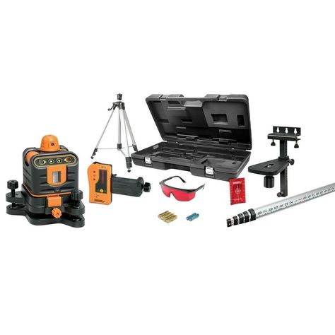 Johnson Manual Leveling Rotary Laser Level Kit With Images Laser Levels Septic System Installation Home Depot