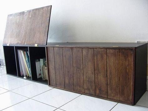カラーボックスに扉をつけるだけで めちゃくちゃオシャレな家具に大