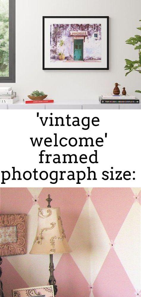 'vintage welcome' framed photograph size: 25.25