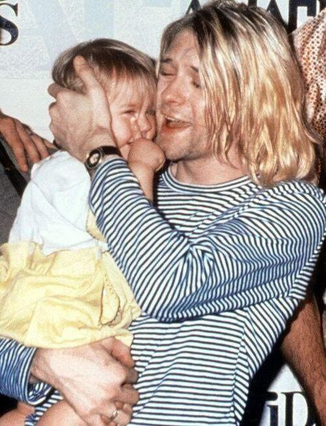 """History Photographed on Twitter: """"Holding Frances in my arms is the best drug in the world. - Kurt Cobain.… """""""