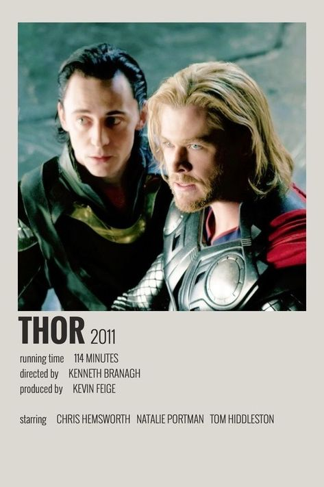 Thor polaroid movie poster