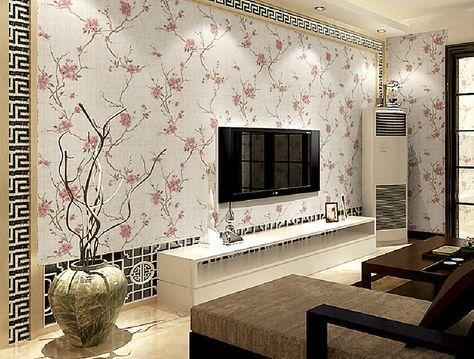 gambar wallpaper dinding ruang tamu sederhana   ruang tamu