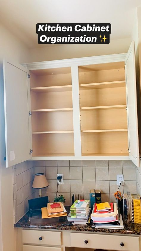 Kitchen Cabinet Organization ✨