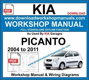 Kia Picanto Repair Workshop Manual 2004 To 2011 Kia Picanto Picanto Repair Manuals