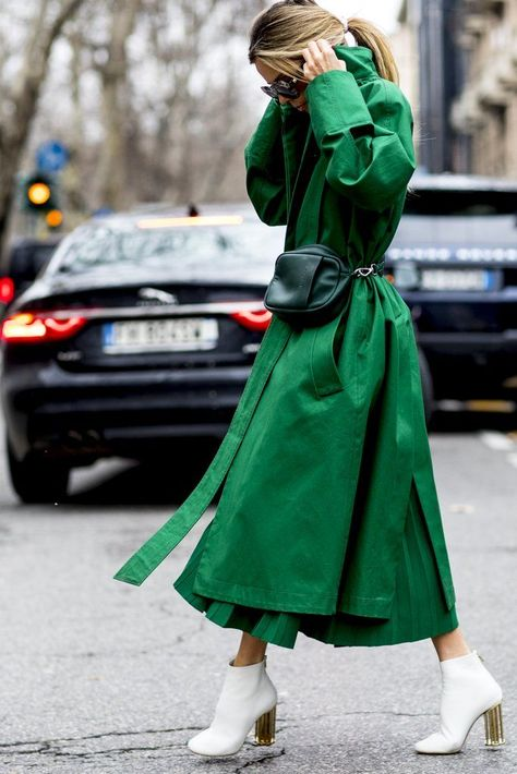 These were the street style trends of Milan Fashion Week 2018 - With this gaudy outfit you look forward to spring!