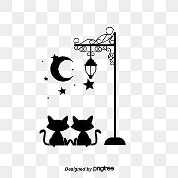 Black Little Cat Night Street Lamp Cartoon Wall Stickers Cartoon Wallpaper Vector Diagram Cartoon Vector Cat V In 2020 Wall Stickers Cartoon Cat Wallpaper Cartoon Wall