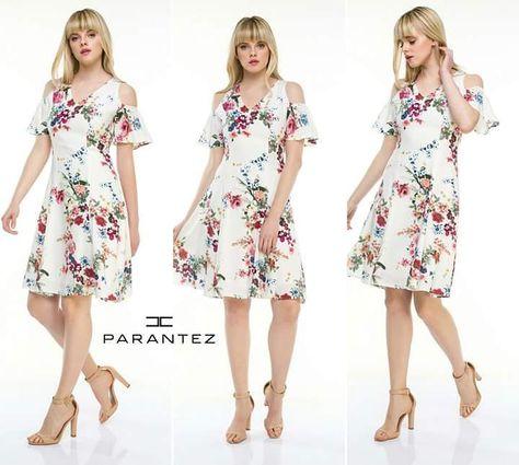 aae470bbf2849 Bahara çiçek desenli elbiseler çok yakışıyor! #parantezgiyim #yenisezon