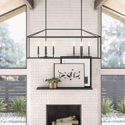 Laurel Foundry Modern Farmhouse Carmen 6 Light Kitchen Island Pendant Reviews Wayfair Home Decor Kitchen Interior Design Kitchen Kitchen Design