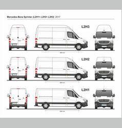 Mercedes Sprinter Cargo Van L2h1 L2h2 L2h3 2017 Vector Van Mercedes Sprinter Passenger Van Ford Transit