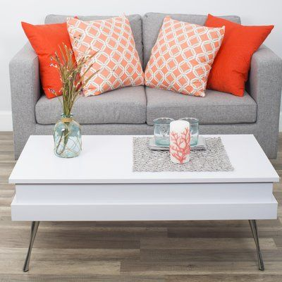 Wade Logan Cornelia Lift Top Coffee Table With Storage Table Base