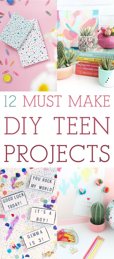 12 Must Make DIY Teen Projects! // Great for Gifts - The Cottage Market