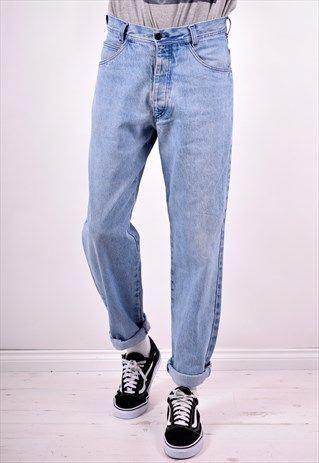 Stone Island Mens Vintage Jeans W30 L32 Blue 90 S Mensjeans Vintage Jeans Mens Blue Jeans Outfit Men Vintage Clothing Men