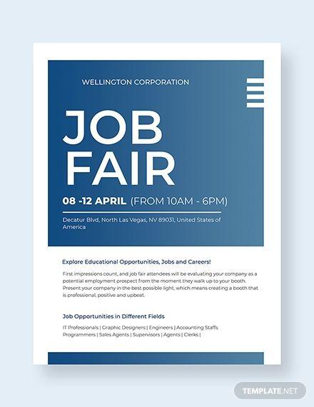 Job Fair Flyer Template Free Jpg Google Docs Illustrator Indesign Word Apple Pages Psd Publisher Template Net Job Fair Flyer Template Flyer