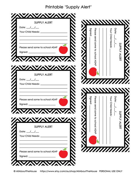 FREE Printable Hall Pass and Supply Alert Cards My classroom